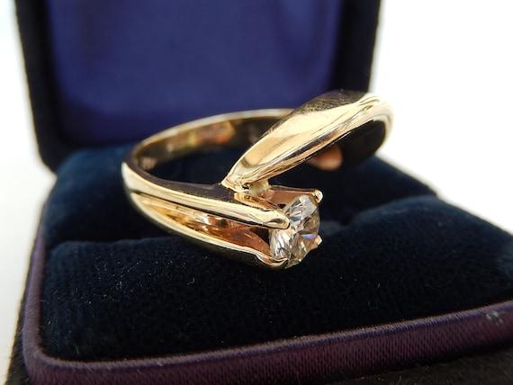 Diamond Ring - 14K Gold & Diamond Ladies Ring - E… - image 8