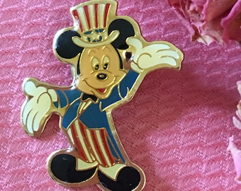 Items Similar To Mickey Mouse Uncle Sam Enamel Lapel Pin