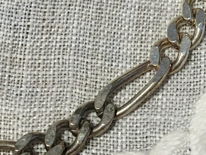 Vintage Sterling Silver LINK BRACELET Claw Clasp on Linking Sterling Link Bracelet.