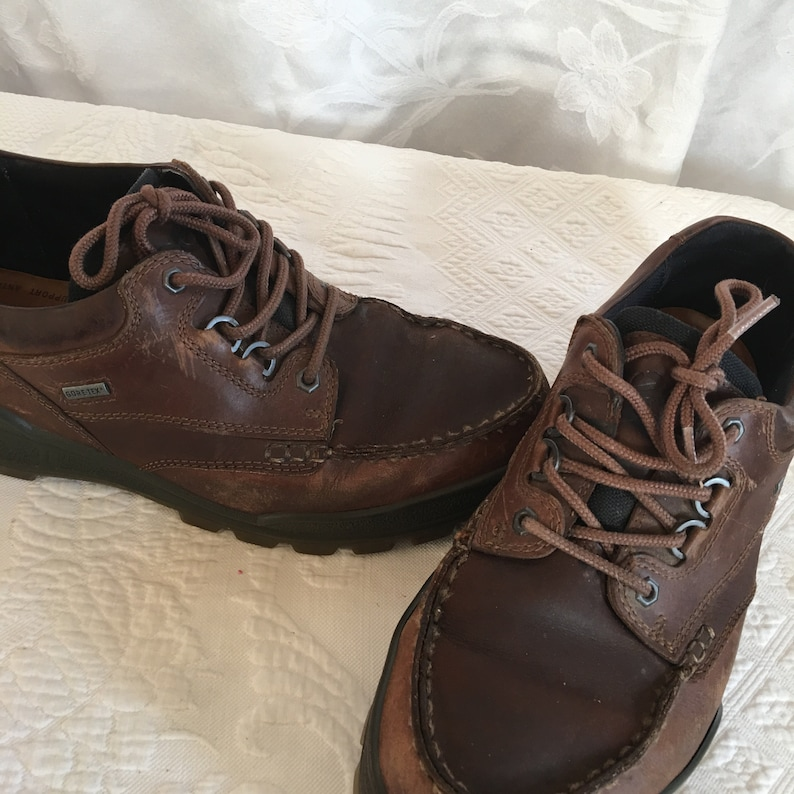 Breathable Bison Color. Comfort System Foam Size 46 Gore-Tex ecco Shoes Great Stylish ecco Work Shoes for the Man Moisture Absorbent
