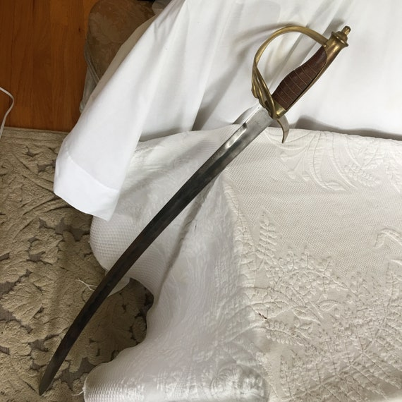 China Antique Collection Brass Dagger Scimitar Pendant Accessories