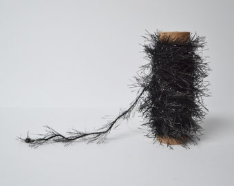 Glitter Trim Tinsel Trim black Twine Fuzzy Garland Trim 10 Yards Gift Wrapping Craft Projects