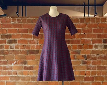 Burgundy Dress w/Back Bow/Business Casual Dresses/ Date Night Dresses/Office Dresses/Simple Dresses Casual/Chic Dresses