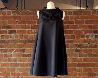 Black Tunic Dress/Little Black Dress/Special Occasion Dress/Formal Dress/Dresses for Wedding Guests/Swing Dress for Women