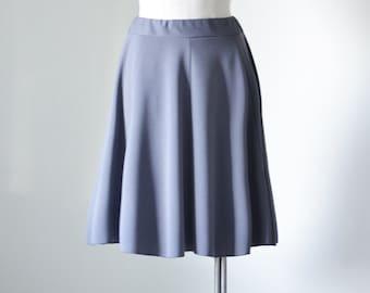 Gray Flare Ponte Knit Skirt