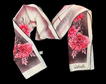 Ostinelli Como | Vintage 1970's | Pink Beige | Pure Silk | Floral Scarf