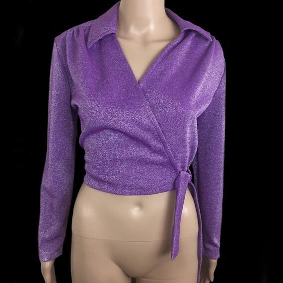 Bon-Ton | Vintage 1960's | Purple Lurex | Long Sle