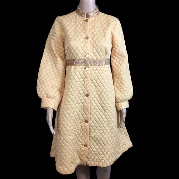 Wool with pockets House of Fraser 70s Vintage Long cardigan Button front.