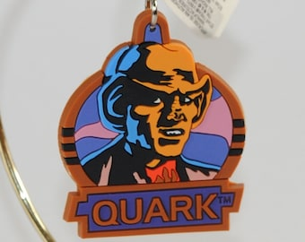 Vintage Star Trek Deep Space Nine Quark Rubber Keychain from 1994 by Applause, New Factory Sealed