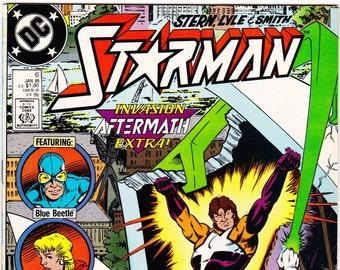 Vintage Comic Book, Starman, Number 6, January 1989, DC Comics