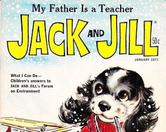 Vintage Comic Book, Jack And Jill, Number 1, January 1971, Holiday Publishing