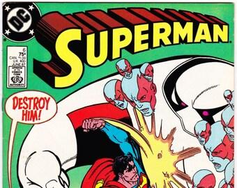 Vintage Comic Book, Superman, Number 6, June 1987, DC Comics