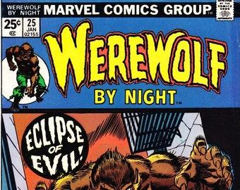 Werewolf by Night Comic Book Volume 1 Number 25 January 1975, Marvel Comics