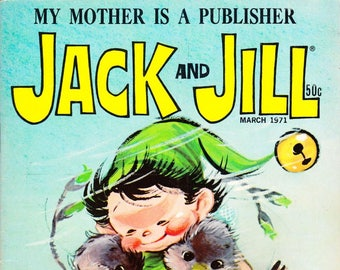 Vintage Comic Book, Jack And Jill, Number 3, March 1971, Holiday Publishing