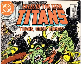 Vintage Comic Book, Tales Of The Teen Titans, Number 67, 27 August 1986, DC Comics