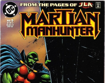 Vintage Comic Book Martian Manhunter Number 5 April 1999, DC Comics