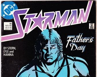 Vintage Comic Book, Starman, Number 16, November 1989, DC Comics