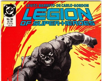 Vintage Comic Book, Legion Of Super Heroes, Number 56, January 1989, DC Comics