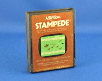 Vintage Atari 2600 Game, Stampede, Activision, 1981