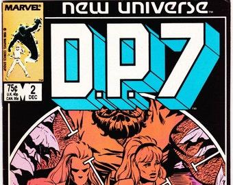 DP7 Comic Book Number 2 December 1986 Marvel Comics