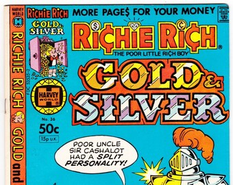Vintage Comic Book, Richie Rich Gold & Silver, Number 31, August 1981, Harvey Comics