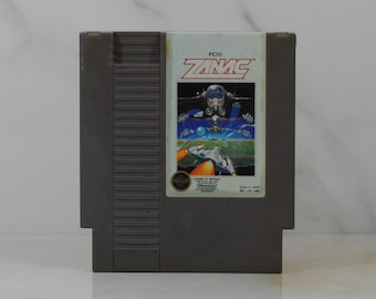 Vintage Nintendo Game Zanac, FCI, 1987, Arcade, Shooter, System, Human Race, AFX-6502, 256th Riot Fleet, Special Weapons, Space Game, NES