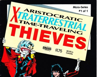 Vintage Comic Book, Aristocratic Xtraterrestrial Time Traveling Thieves, Vol 1 No 1, August 1996, Comic Interview