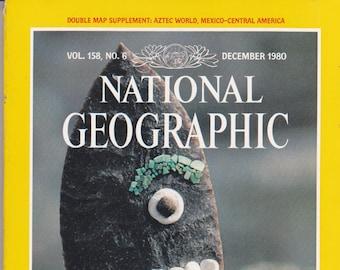 Vintage National Geographic Magazine, Vol 158, No 8, December 1980, Aztecs, Tenochtitlan, Great Temple, Coal, Parklands, Portugal