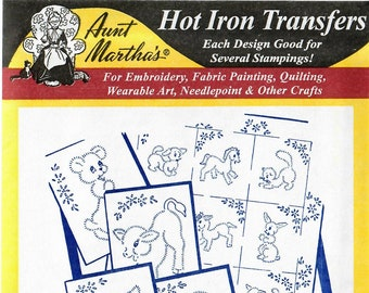 Aunt Martha's Hot Iron Transfers, Baby Animal Quilt #3047