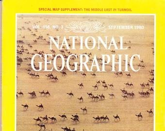 Vintage National Geographic Magazine, Vol 158, No 3, September 1980