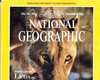 Vintage National Geographic, Volume 162 Number 6, December 1982