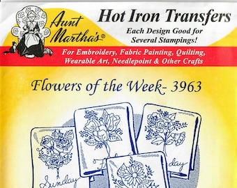 Vintage Aunt Martha's Hot Iron Flowers of the Week 3963