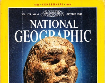 Vintage National Geographic Magazine, October 1988, Vol 174 No 4, The Peopling Of Earth