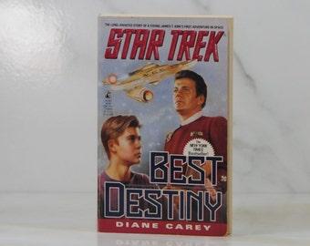 Vintage Paperback Book Star Trek Best Destiny, Pocket Books, 1992, Diane Carey, James Kirk, Enteprrise, Mr Spock, Dr McCoy, Admiral Kirk