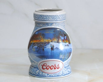Vintage Beer Stein, Coors Brewing Company, Seasons of the Heart, 1997, Collectors Stein, Limited Edition, Colorado, Numbered, Barware