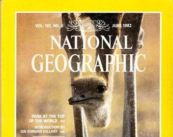 Vintage, National Geographic, Magazine, June 1982, Vol 116 No 6, Mount Everest Park