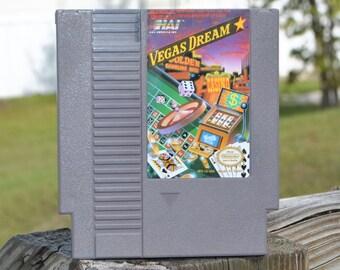 Vintage Nintendo Game, Vegas Dream, HAL America 1988