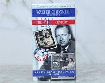 Vintage Readers Digest Presents Walter Cronkite Remembers The 20th Century Television Politics and JFK - President - Nixon - Kennedy - VHS