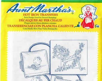 Aunt Martha's Hot Iron Transfers, Spinning Wheel for Pillow Slips 3711
