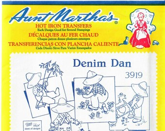 Aunt Martha's Hot Iron Transfers, Denim Dan #3919