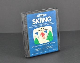 Vintage Atari 2600 Game, Skiing, Activision, 1980