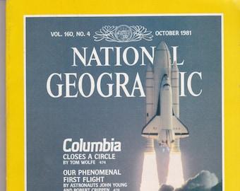 Vintage National Geographic Magazine, Vol 160, No 4, October 1981, Crosscurrents, Pakistan, Mono Lake, Wilson, Columbia Shuttle, Aphrodisias