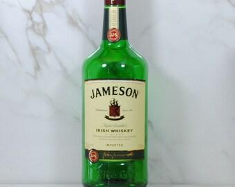 Jameson Irish Whiskey Bottle, Product of Ireland, 1.75L, Empty Liquor Bottle, Irish Whiskey, Craft Supply, Lighting, Bottle Slumping