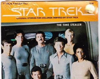 Vintage Star Trek Record, Time Stealer, Original Series Record 1979 Peter Pan Records 45RPM #1514
