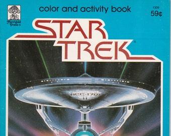 Vintage Star Trek Color And Activity Book - Far Out Fun 1979 By Merrigold Press - Original Series - Enterprise - Coloring Book - Activity