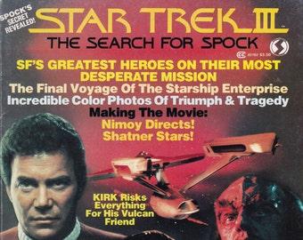Vintage Star Trek III The Search For Spock Official Movie Magazine 1984 by Starlog -  Saavik - Khan - Chekov - Kirk - Vulcan - Earth