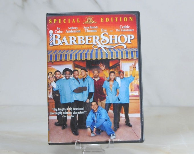 Barbershop DVD, 2002 comedy/drama movie starring Ice Cube, Anthony Anderson, Cedric the Entertainer and Sean Patrick Thomas
