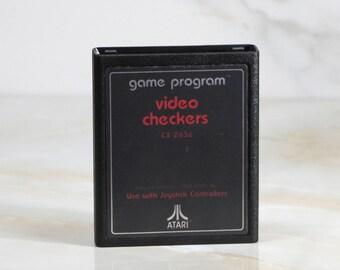 Vintage Atari 2600 Game, Video Checkers, Atari, 1980