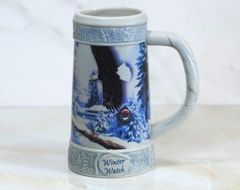 Miller Beer Stein, Winter Watch, Third in the series Holiday Stein Made in 2000, Miller Brewing Company