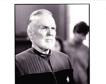 Vintage Star Trek Photograph, Anthony Zerb, Admiral Dougherty, Black and White, Insurrection, 1998, Hollywood Décor, Movie Advertisement